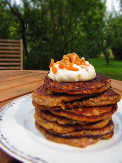 LC Möhren-Pancakes mit Frischkäsecreme