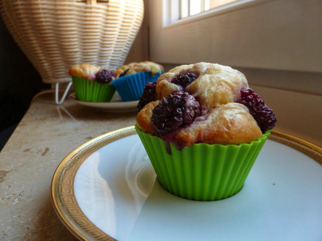 Kalorienarme Brombeer-Vanille-Muffins
