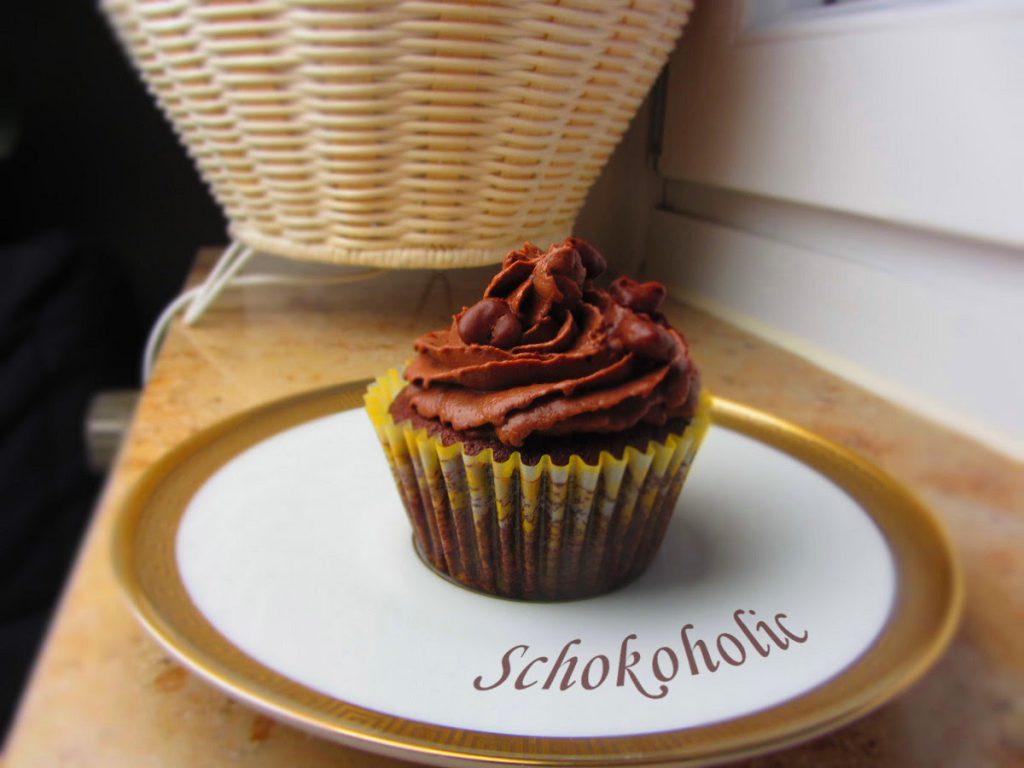 Schokocupcakes mit Frischkäsetopping