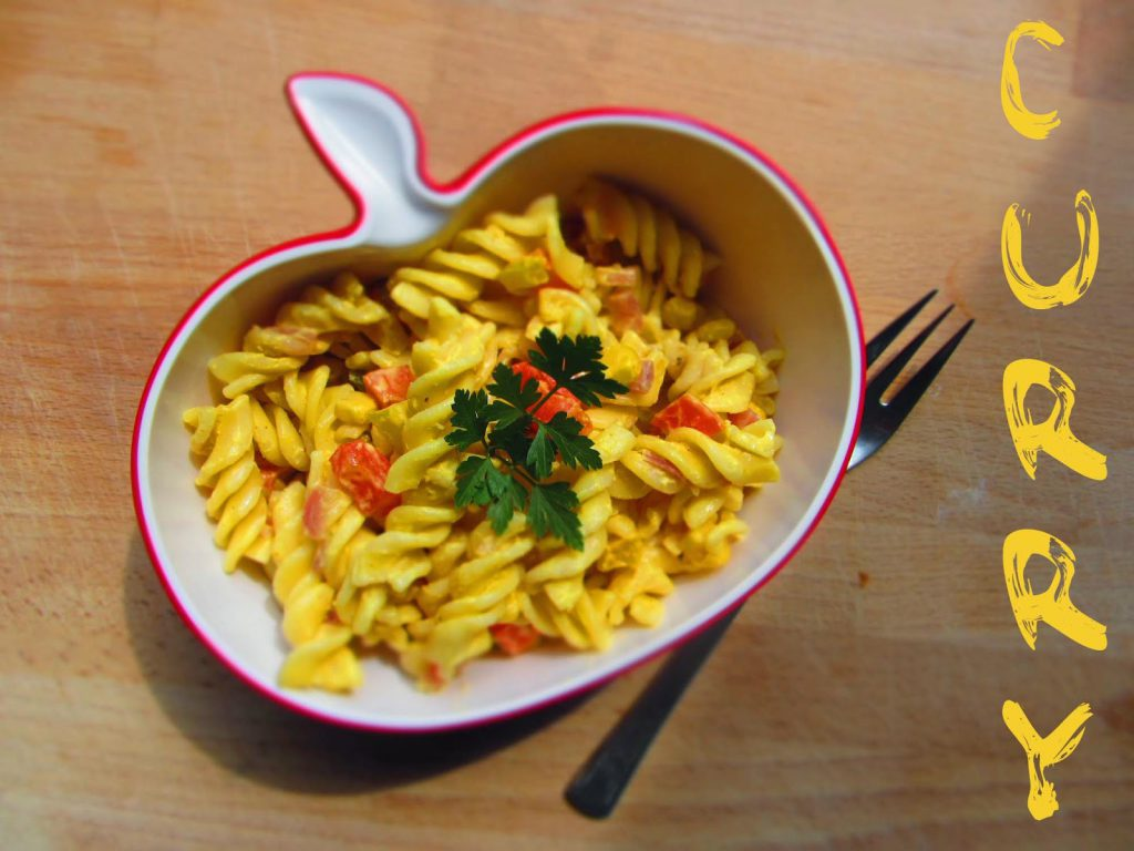 Nudelsalat mit Currydressing