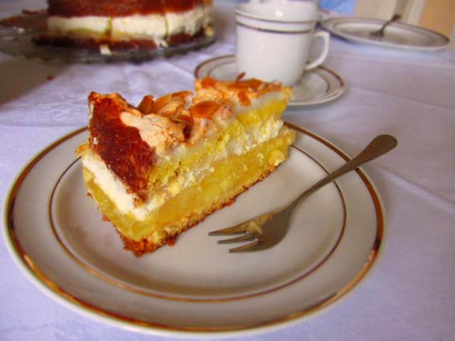 Kalte Tage im Sommer - Apfel-Baiser-Torte