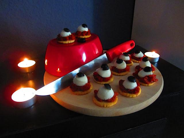 Halloween Special, Halloween Fingerfood, Glubsch-Cracker