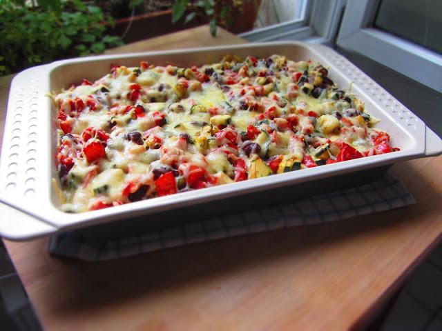 Nudelauflauf Toskana, Nudelauflauf mit Gemüse