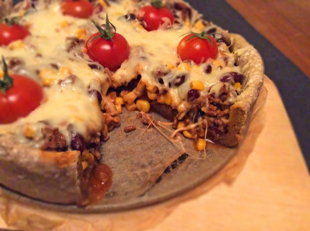 Viva México - Quiche mit Bohnen und Mais