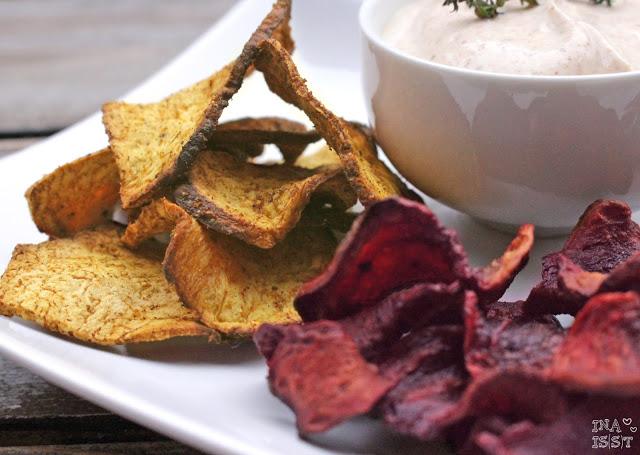 Gesunde Knabbereien: Gemüsechips aus dem Ofen