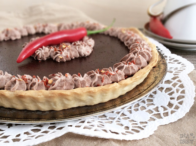 Schokoladen-Chili-Tarte
