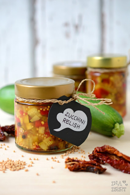 Selbstgemachtes Zucchini Relish
