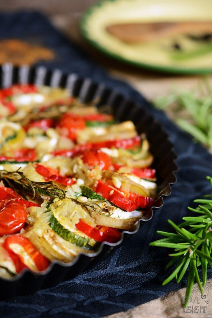 Lebensbaum: Kartoffel-Zucchini-Tarte mit Ziegenkäse, Potato-zucchini tart with goat cheese