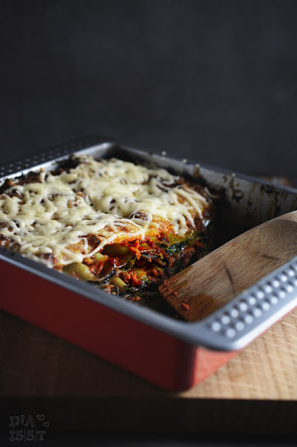 Hackfleisch-Spinat-Lasagne / Spinach and Beef Lasagne
