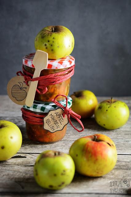 Rezepte für den Herbst mit Äpfeln, Apfel Möhren Relish