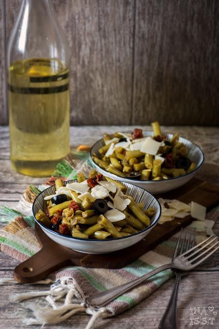 Schneller, mediterraner Bohnensalat, Peasypeasy mediterranean green bean salad