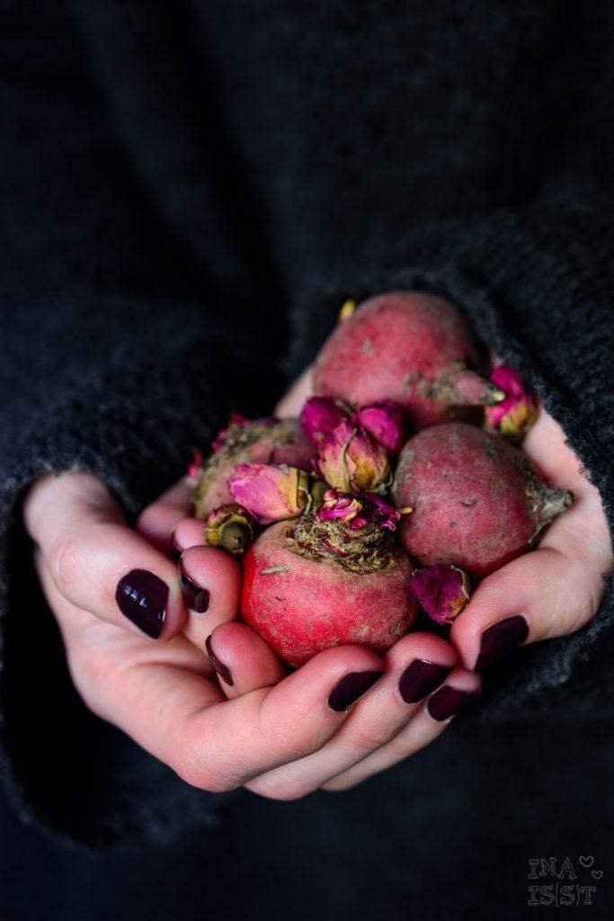 Samtiger Rote Bete-Rosen-Smoothie, Ruby Rose Root Smoothie
