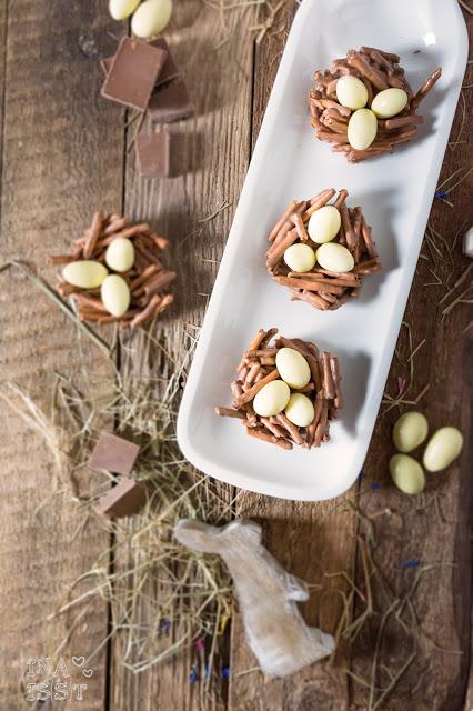 Osternester aus Schokolade Ostergeschenk Süßes Ostermitbringsel Schokonester Chocolate Easter Egg Nests