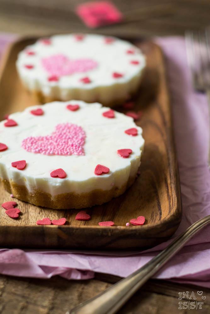 Törtchen mit Herz, Joghurt-Tartelettes zum Muttertag