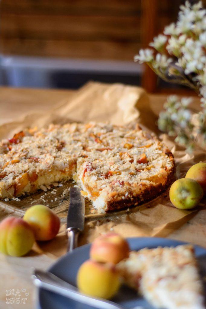 Glutenfreier Aprikosen Käsekuchen