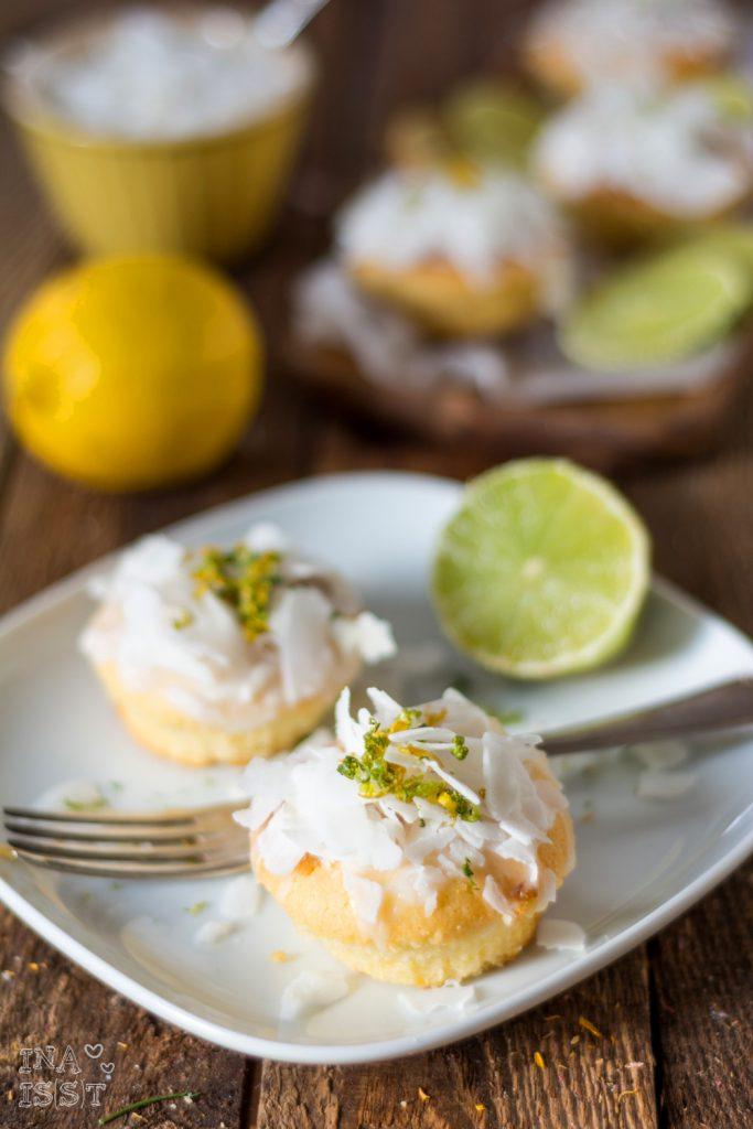 Exotische Zitrusmuffins mit Kokos