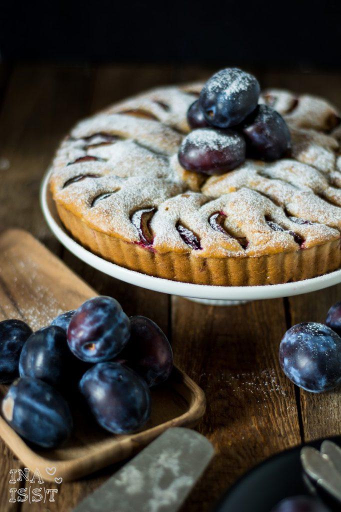 Vollkorn Zwetschgenkuchen mit Honig und Zimt