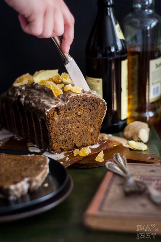 Würziger Ingwerkuchen mit Ginger Ale-Zuckerguss aus Irland