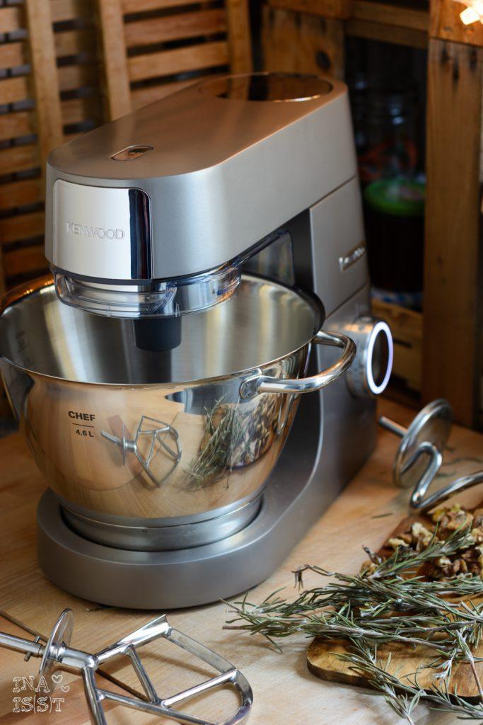 Kenwood Titanium Chef-Rezept-Weihnachtsbrot - Pain d'épi mit Walnüssen und Rosmarin