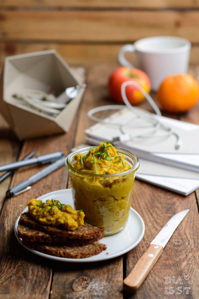 Essen im Büro, Brotaufstrich selbstgemacht: Roter Linsen-Curry-Austrich
