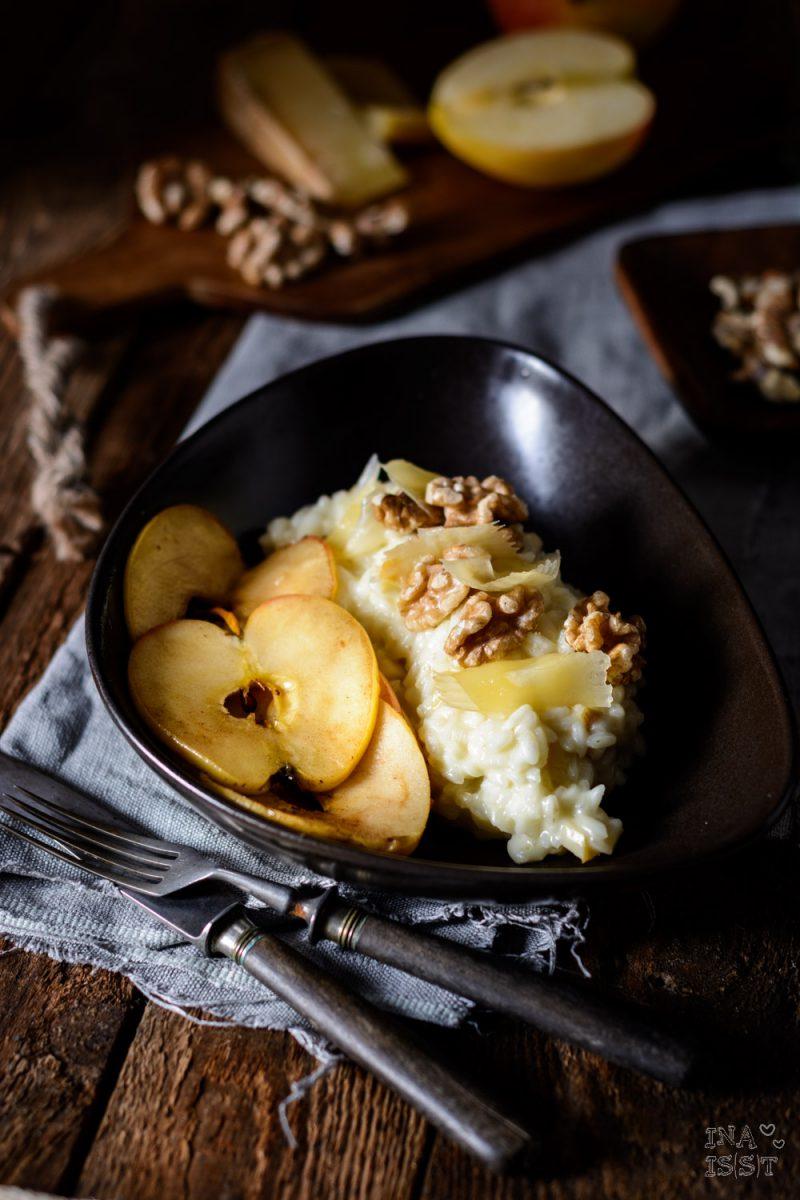 Rezepte für den Herbst mit Äpfeln, Bergkäse Risotto
