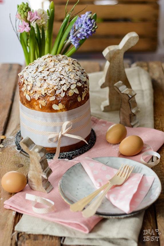 Oster Panettone mit Rosinen und Mandeln