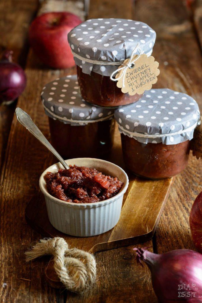 Zwiebelchutney, Apfel, Rezept Chutney, Ina Is(s)t, Apfel-Zwiebel-Chutney