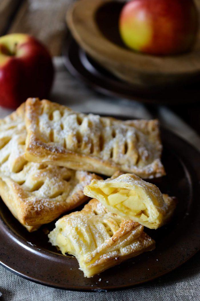 Rezepte für den Herbst mit Äpfeln, Apfeltaschen