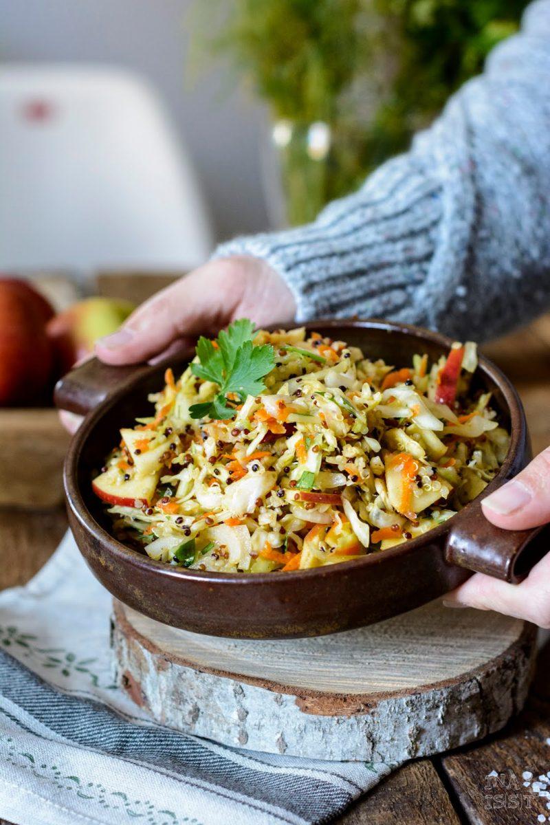 Rezepte für den Herbst mit Äpfeln, Spitzkohlsalat
