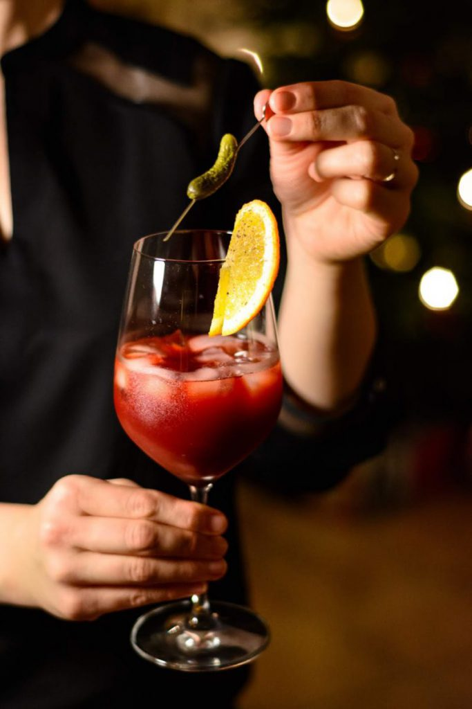 Bloody Mary mit selbstgemachtem Rote-Bete-Sirup