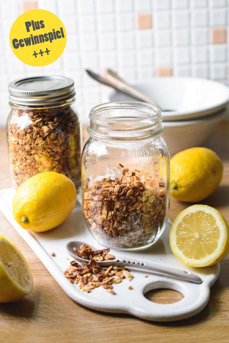 Rezept Lemon Granola, Knuspermüsli, Granola selbermachen