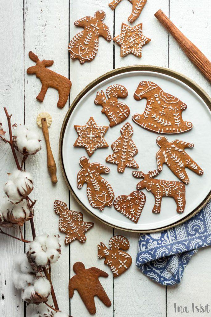 Pepparkakor, Schwedische Pfefferkuchen,Gewürzplätzchen, Verzieren