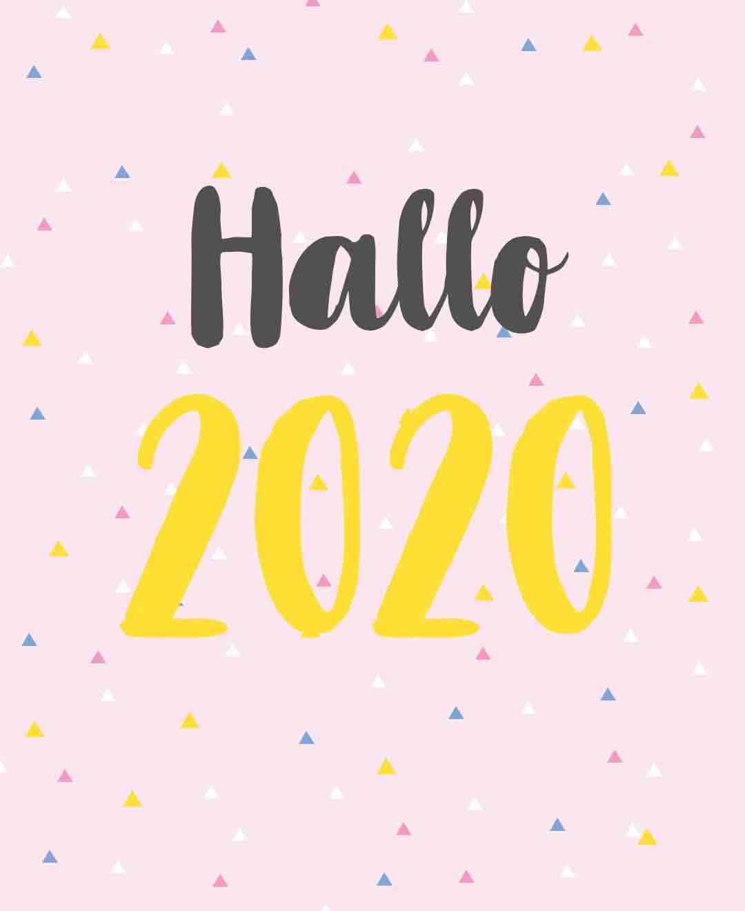 Mein Jahresrückblick, Neues für 2020 und ein Kalender zum Ausdrucken