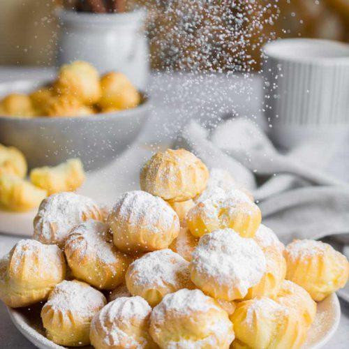 Kleine perfekte Windbeutel Vanille Füllung, Einfache Windbeutel mit Vanillecreme, Windbeutel Kindergeburtstag, #windbeutel