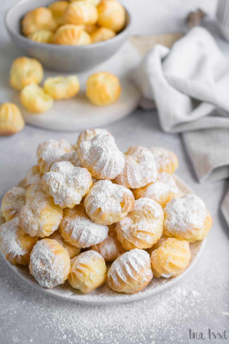 Perfekte kleine Windbeutel Vanille Füllung, Einfache Windbeutel mit Vanillecreme, Windbeutel Kindergeburtstag, #windbeutel