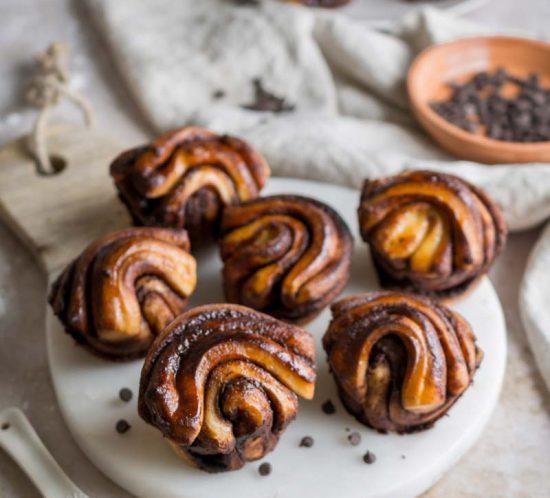 Schoko Babka Pull Apart Muffins Hefeteig, muffin rezept, #babka