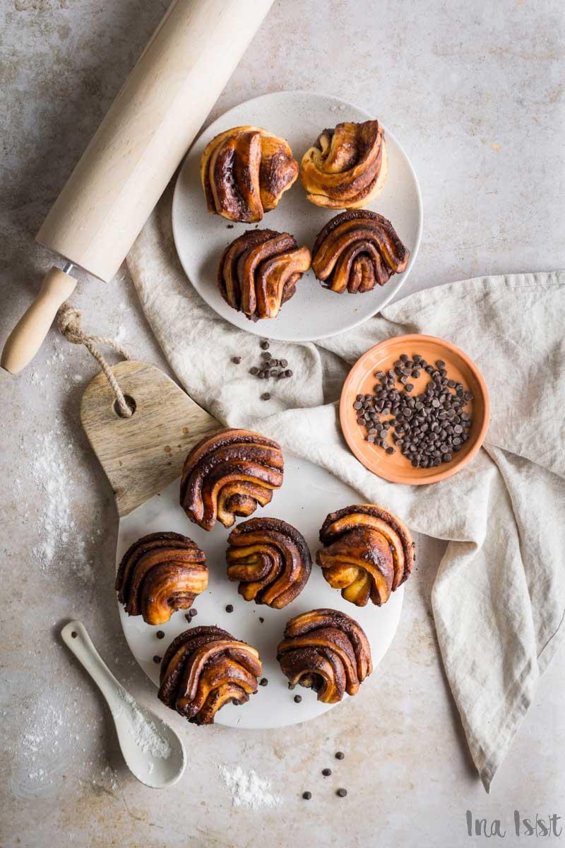 Schoko Babka Pull Apart Muffins Hefeteig, muffin rezept, #babka, Hefe Muffins