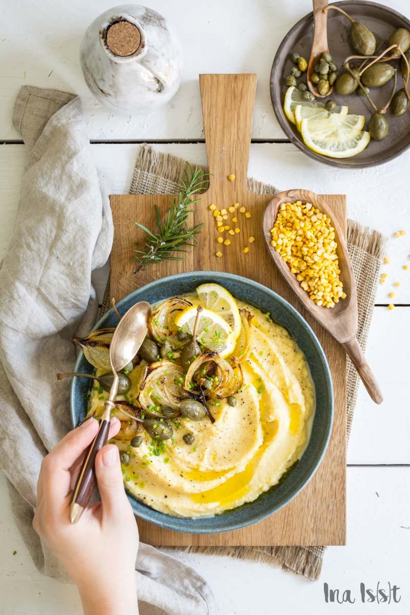 Rezept für Fava, griechischer Hummus aus gelben Platterbsen