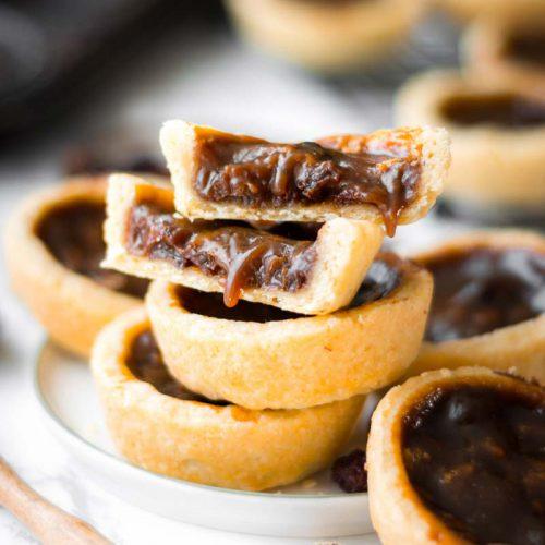 Raisin Butter Tarts, Kanadische Rosinen Törtchen, Rosinen Tartelettes