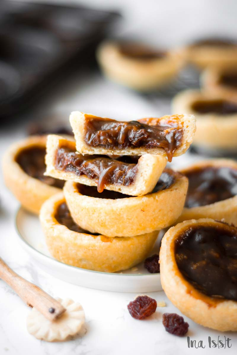 Raisin Butter Tarts, Kanadische Rosinen Törtchen, Rosinen Tartelettes