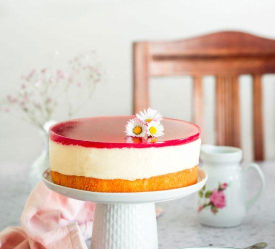 Einfache Rhabarber Schmand Torte