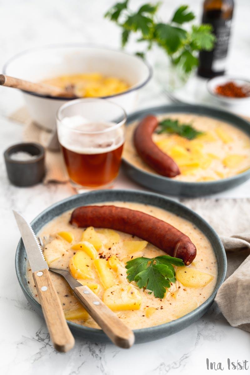 Krumplifőzelék - ungarischer Kartoffeltopf mit saurer Sahne, Rezept für Kartoffeln mit saurer Sahne, saure Krumpir