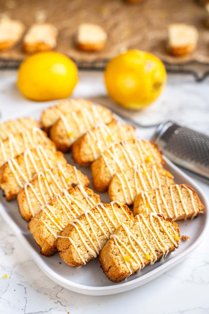 Low Carb Kokos-Zitronen Cantuccini, World Diabetes Day, Plätzchen ohne Zucker, Kekse mit Kokosmehl