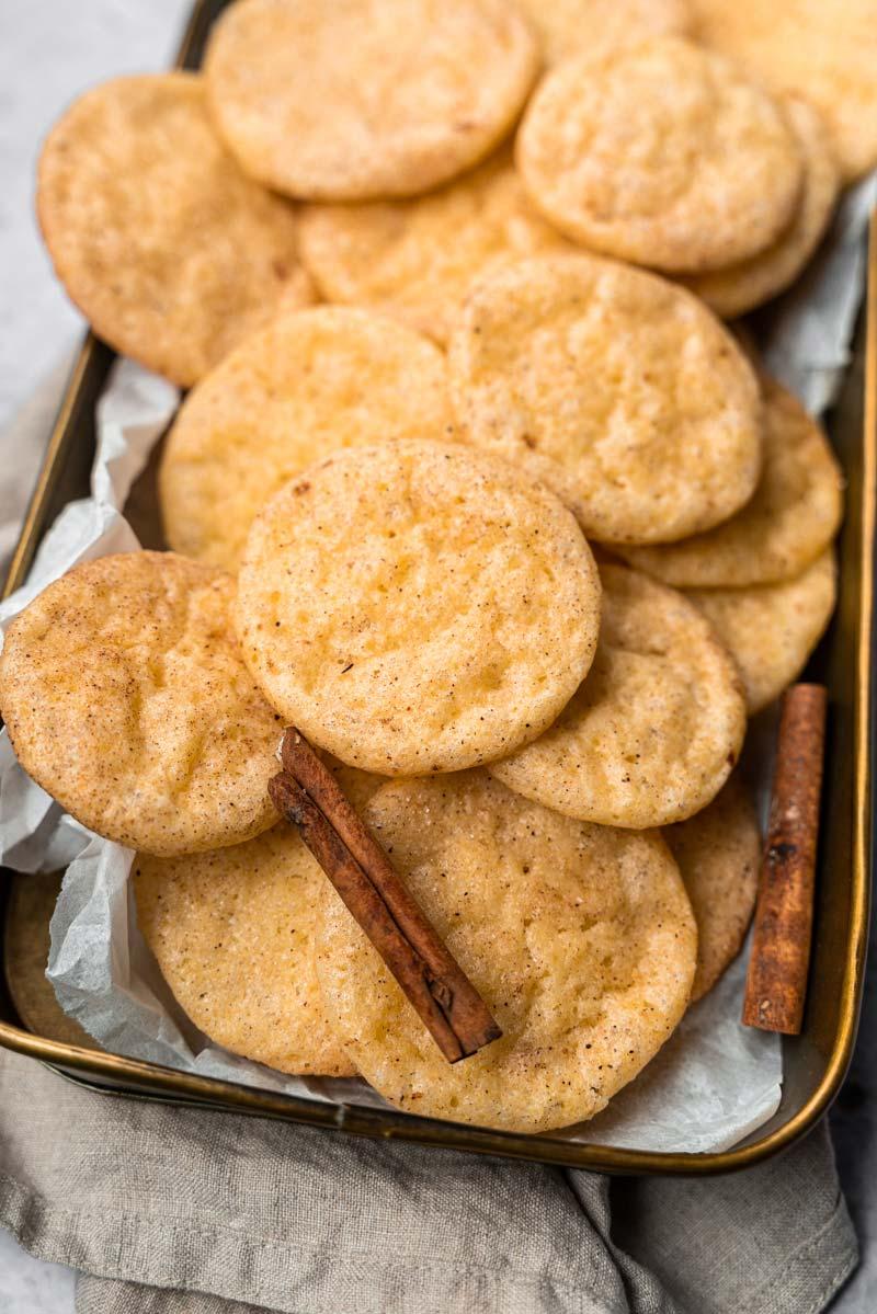 Amerikanische Snickerdoodle Cookies - mit Zucker & Zimt