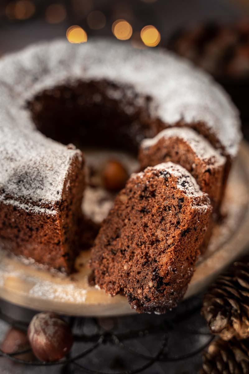 Gewürzkuchen mit Haselnuss und Schokolade, #gewürzkuchen