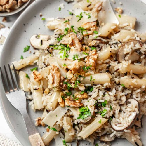 Vegetarische Reispfanne mit Schwarzwurzel, Reis mit Schwarzwurzel, Einfache Reispfanne, #reispfanne, #schwarzwurzel