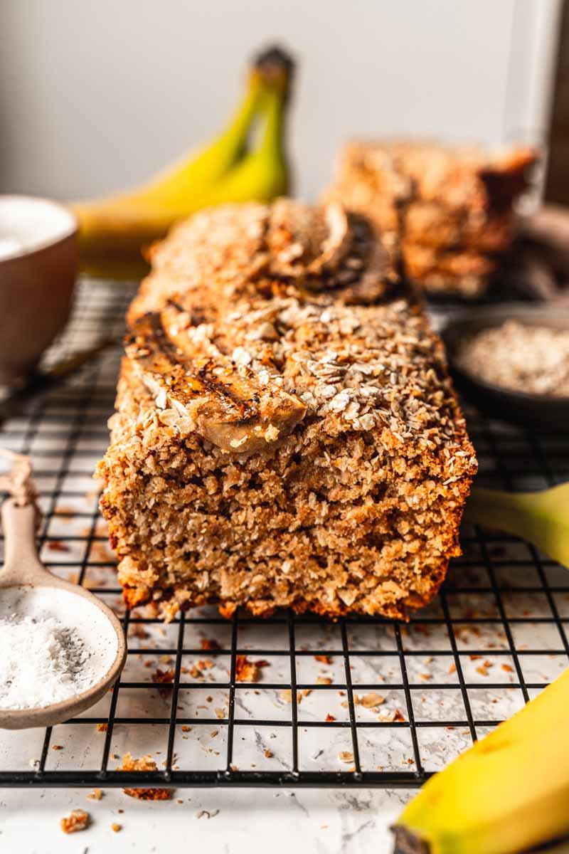 Bananenbrot mit Kokos, Kokos-Bananenbrot, Bananenbrot mit Vollkornmehl, #Bananenbrot
