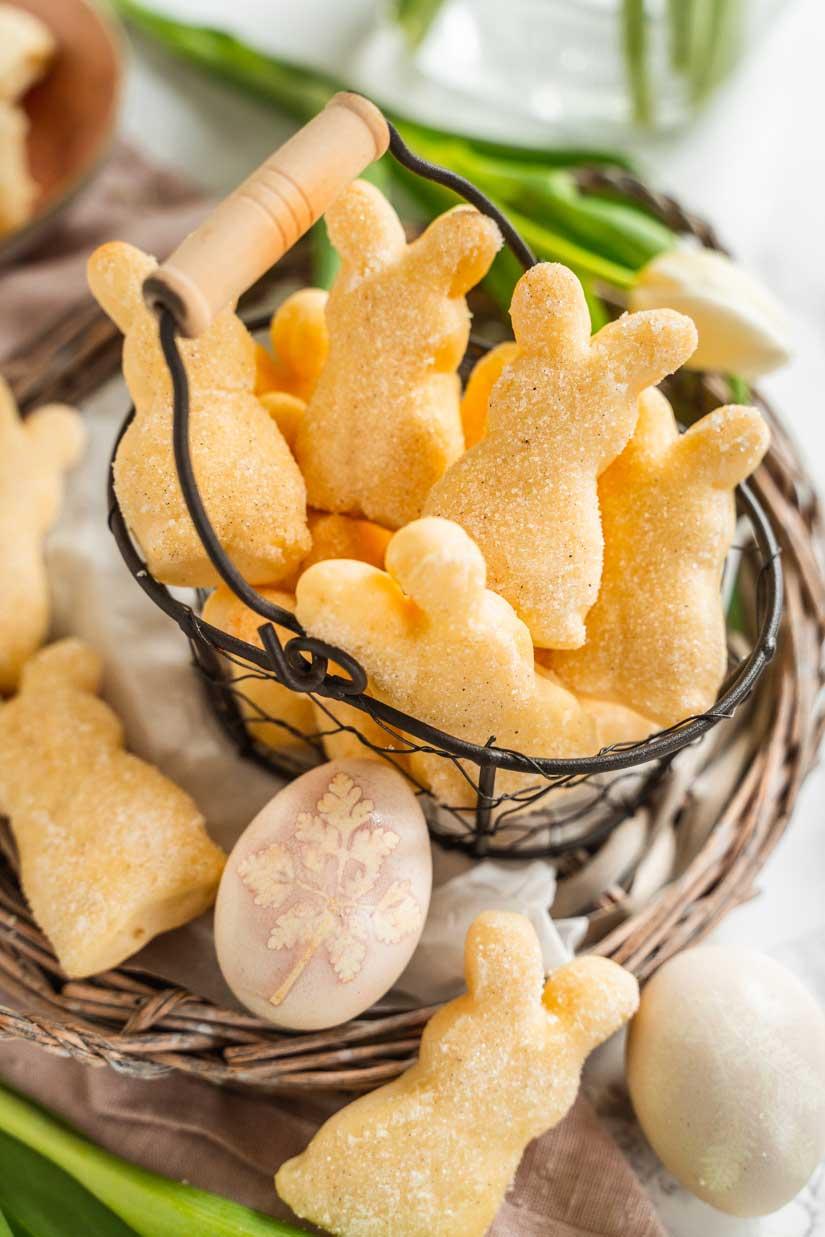 Kleine Quarkhasen mit Vanille und Hefeteig, Quarkhasen wie vom Bäcker, #quarkhasen, #ostergebäck
