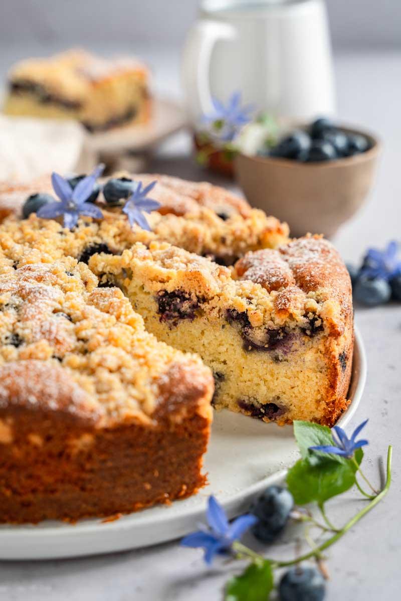 Blaubeerkuchen mit Streusel, Streuselkuchen mit Obst, Streuselkuchen mit Beeren, Blaubeerrezept, #streuselkuchen, #blaubeerkuchen